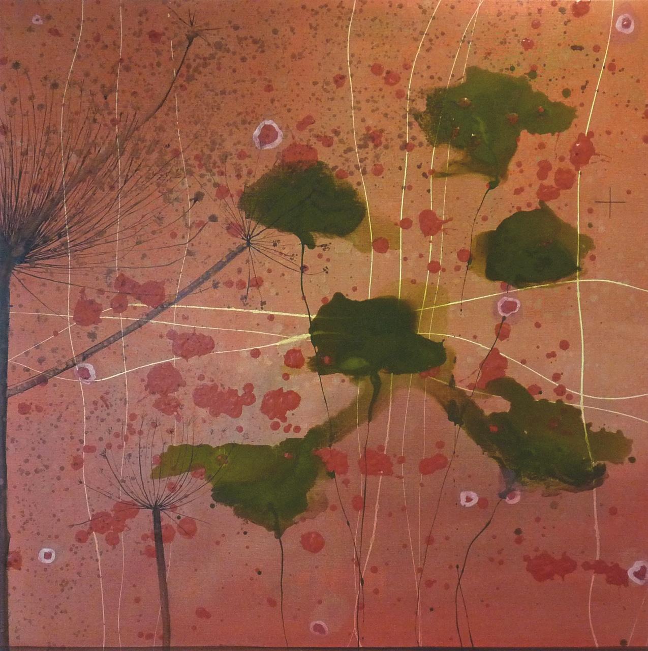 Love lost in love | Gemengde technieken op doek | 140 x 140 cm | 2012