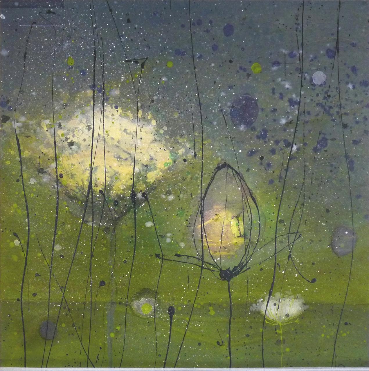 You're such a high wind blowing and it is snowing in my head | Gemengde technieken op doek | 100 x 100 cm | 2012