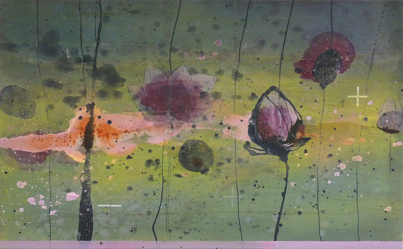 Seeking truth and understanding in the hope that I would find | Gemengde technieken op doek | 80 x 130 cm | 2012