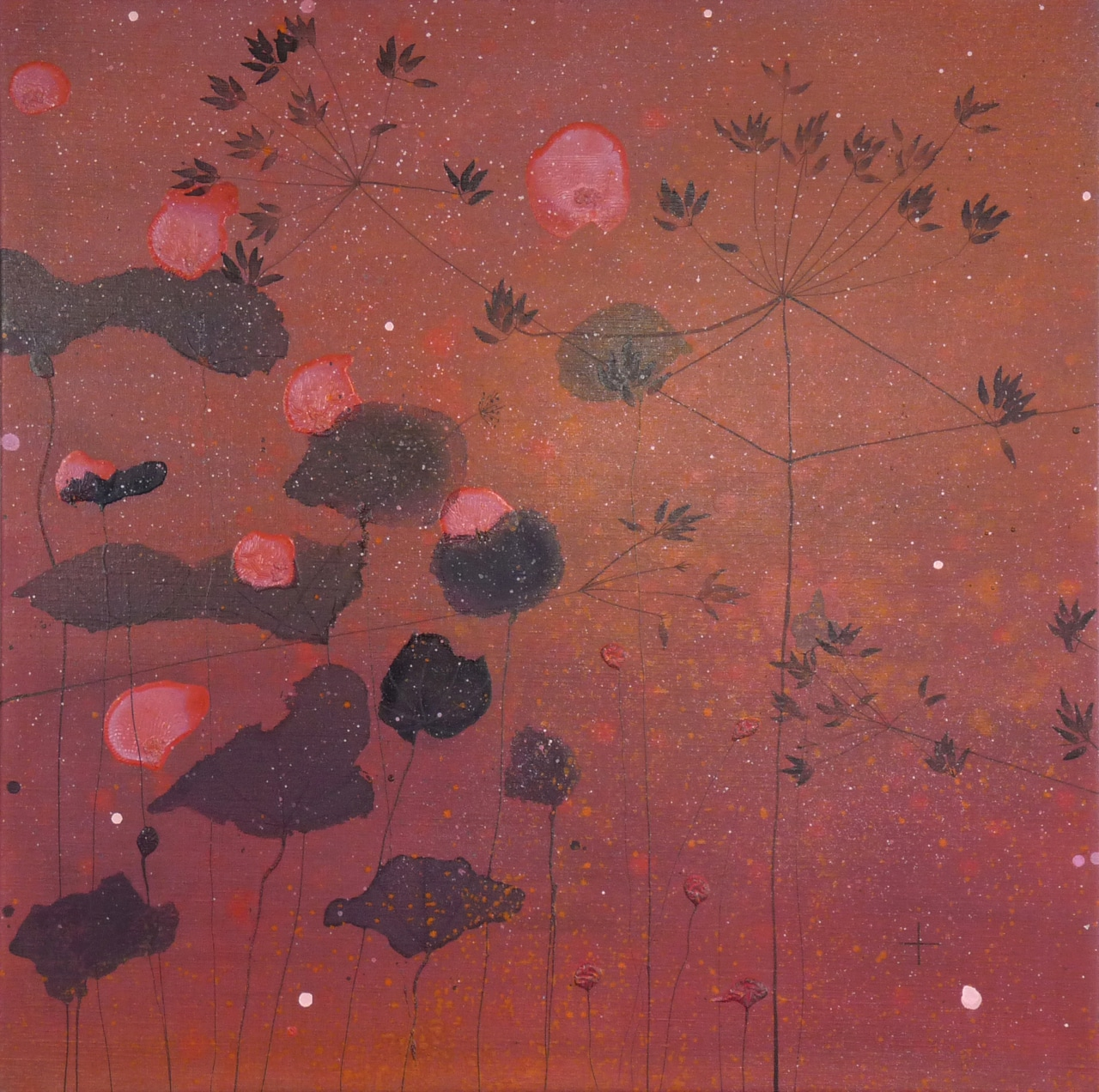 Where The Heart Blossoms | Gemengde technieken op doek | 100 x 100 cm | 2012